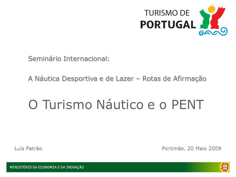 Seminário Internacional: A Náutica Desportiva e de Lazer – Rotas de Afirmação O Turismo Náutico e o PENT Luís PatrãoPortimão, 20 Maio 2009