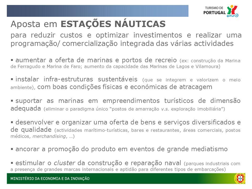 Aposta em ESTAÇÕES NÁUTICAS para reduzir custos e optimizar investimentos e realizar uma programação/ comercialização integrada das várias actividades