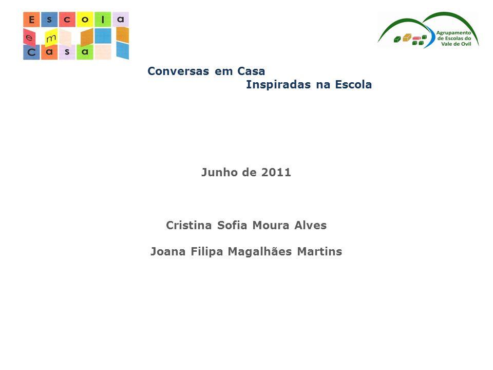 Conversas em Casa Inspiradas na Escola Junho de 2011 Cristina Sofia Moura Alves Joana Filipa Magalhães Martins