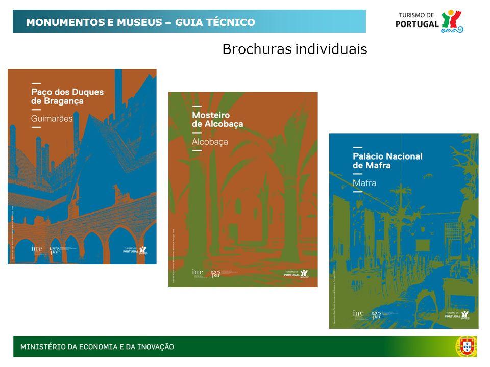 Brochuras individuais MONUMENTOS E MUSEUS – GUIA TÉCNICO