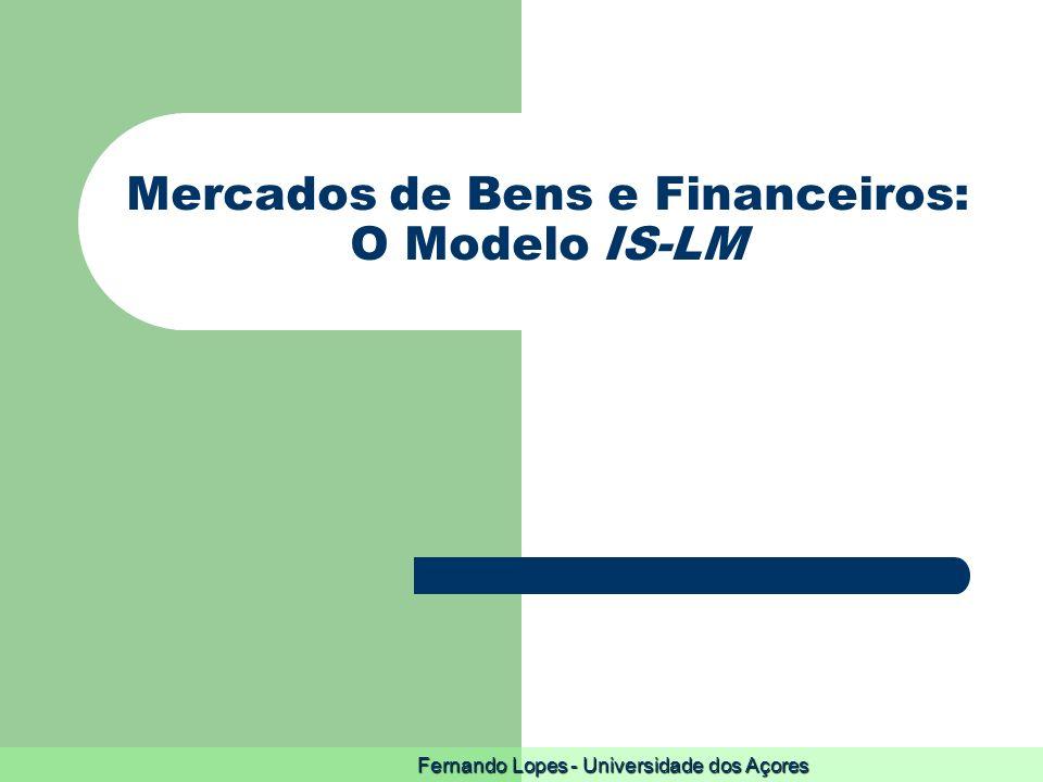 Fernando Lopes - Universidade dos Açores Mercados de Bens e Financeiros: O Modelo IS-LM