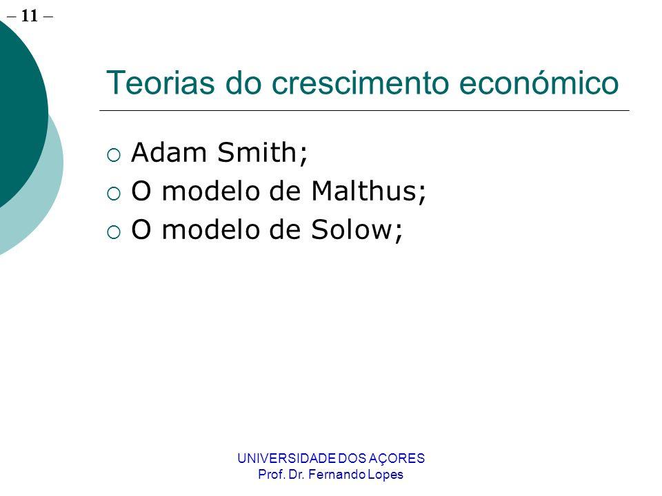 – 10 UNIVERSIDADE DOS AÇORES Prof. Dr.