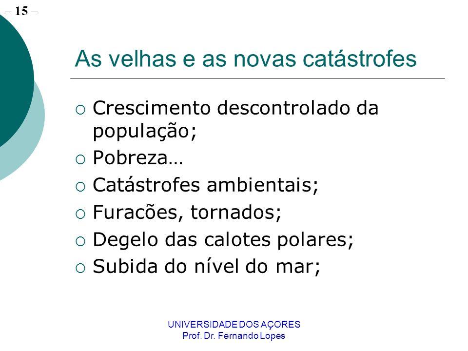 – 14 UNIVERSIDADE DOS AÇORES Prof. Dr.