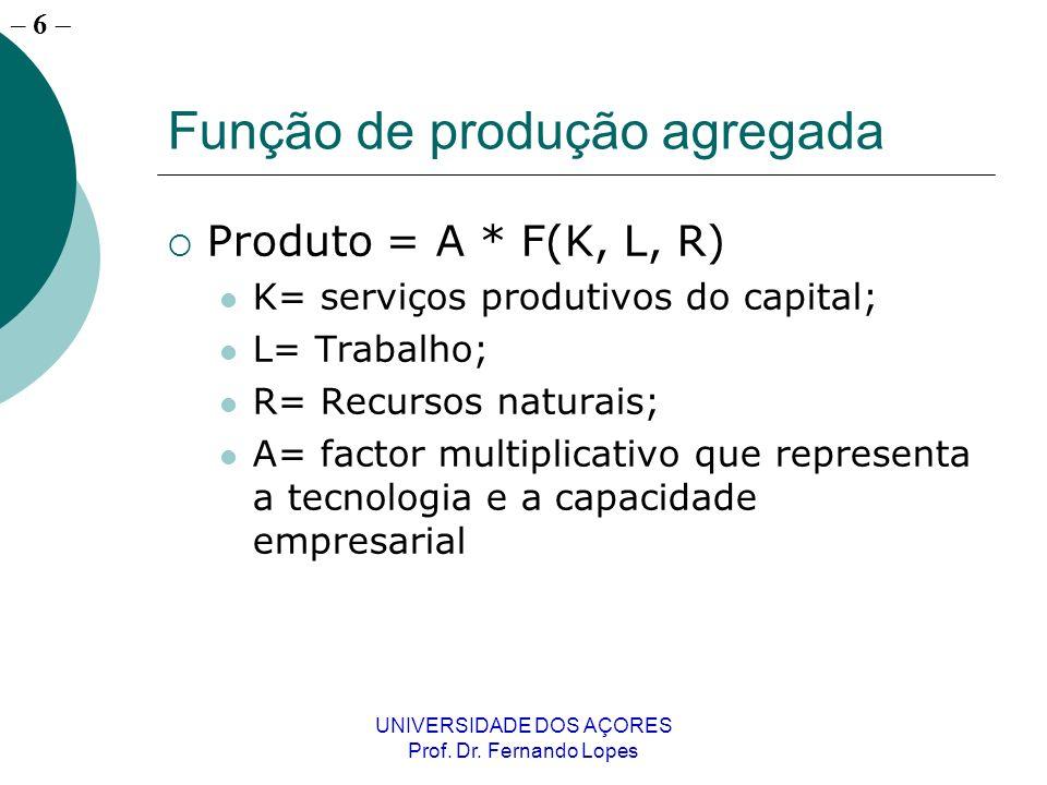 – 5 UNIVERSIDADE DOS AÇORES Prof. Dr.