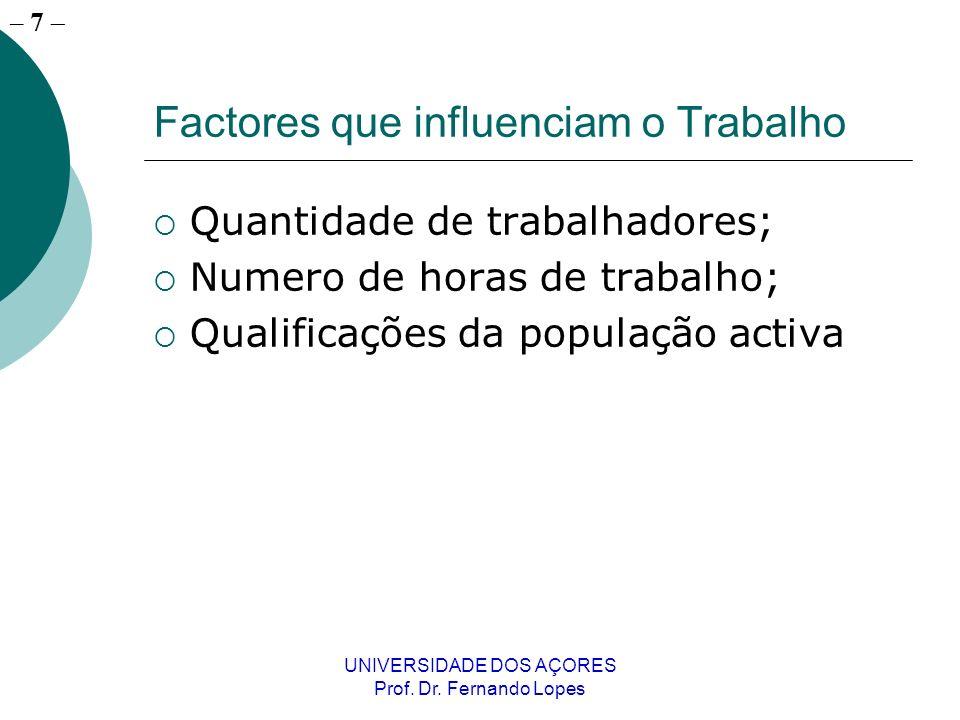 – 6 UNIVERSIDADE DOS AÇORES Prof. Dr.