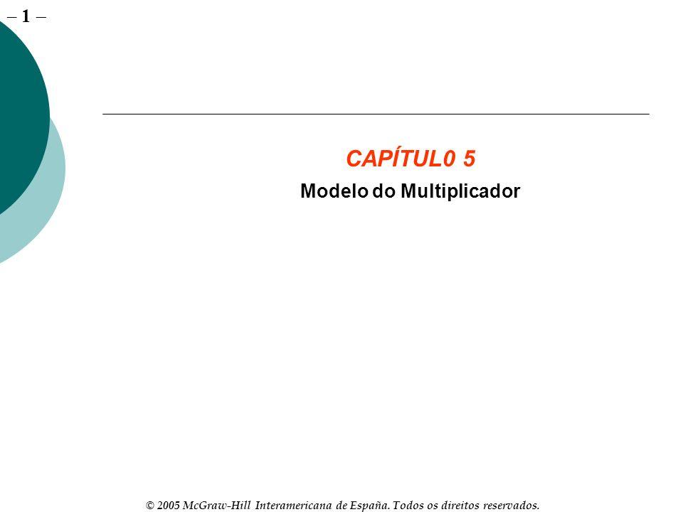 – 1 © 2005 McGraw-Hill Interamericana de España. Todos os direitos reservados. CAPÍTUL0 5 Modelo do Multiplicador