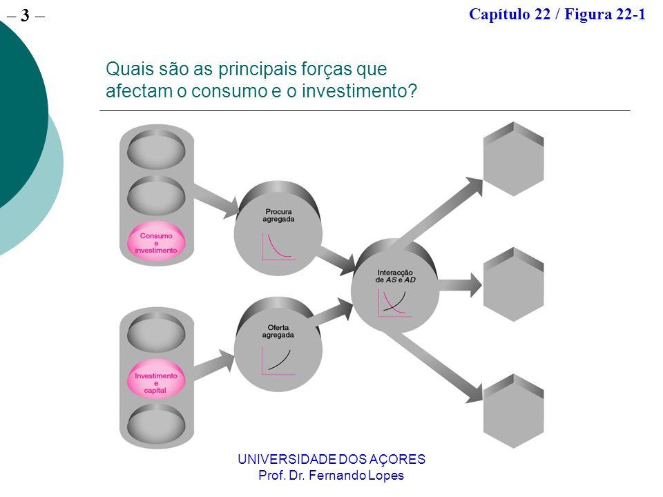– 3 UNIVERSIDADE DOS AÇORES Prof. Dr. Fernando Lopes Quais são as principais forças que afectam o consumo e o investimento? Capítulo 22 / Figura 22-1