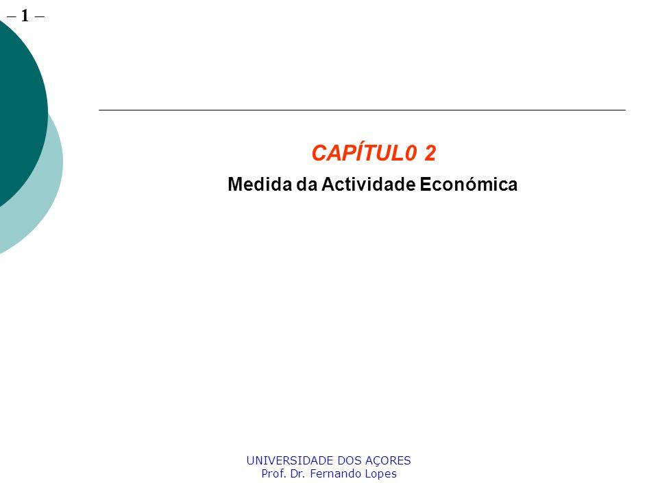 – 22 UNIVERSIDADE DOS AÇORES Prof. Dr. Fernando Lopes O Equilíbrio Produto = Despesa Y=C+I+G+X-M