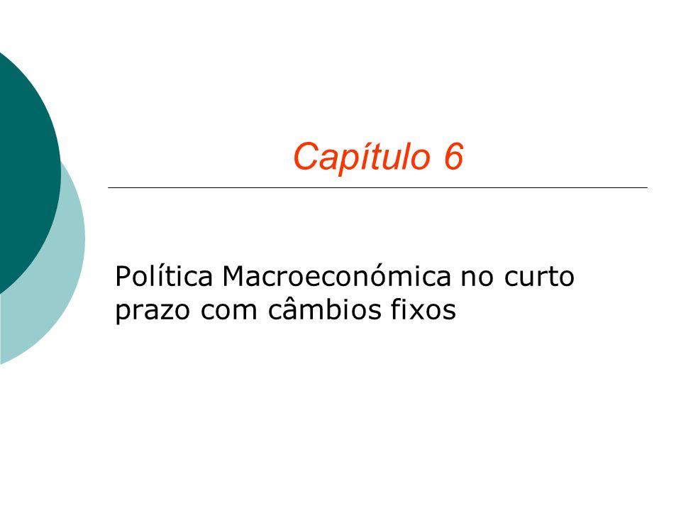 Capítulo 6 Política Macroeconómica no curto prazo com câmbios fixos