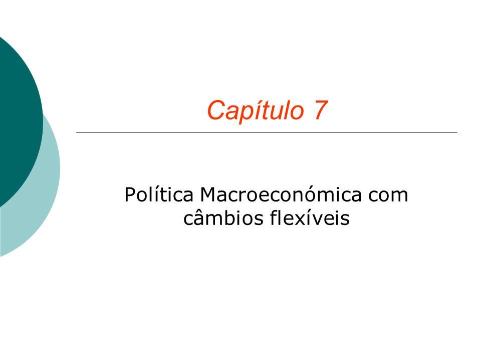 Capítulo 7 Política Macroeconómica com câmbios flexíveis