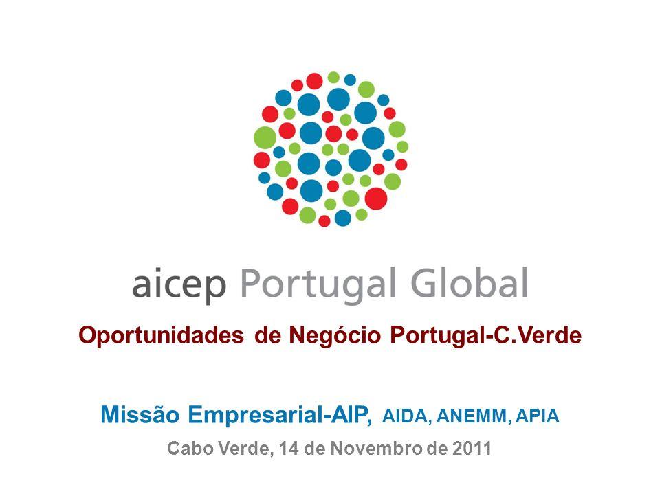 Oportunidades de Negócio Portugal-C.Verde Missão Empresarial-AIP, AIDA, ANEMM, APIA Cabo Verde, 14 de Novembro de 2011