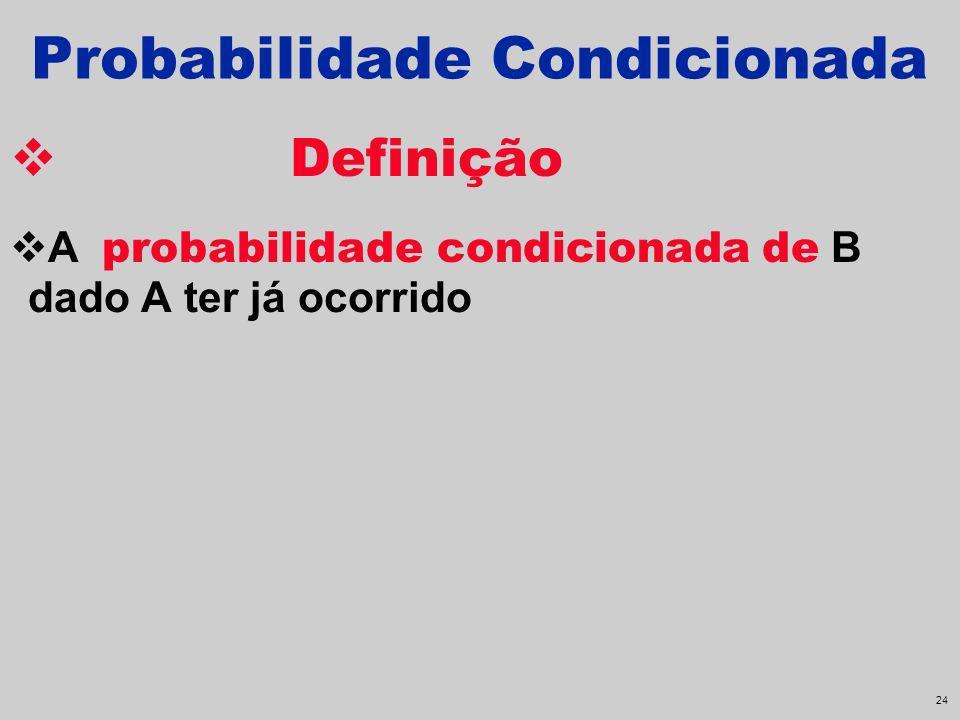23 Probabilidade de pelo menos um pelo menos um é equivalente a um ou mais. O complementar de conseguir pelo menos um é não conseguir nada. SeP(A) = P