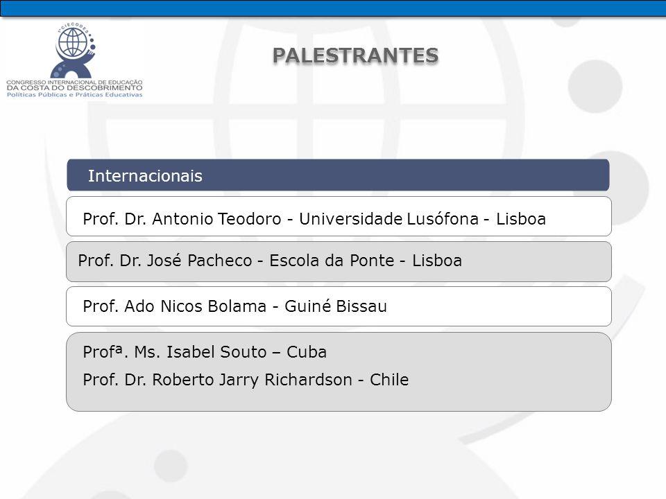 Internacionais Prof. Dr. Antonio Teodoro - Universidade Lusófona - Lisboa Prof.