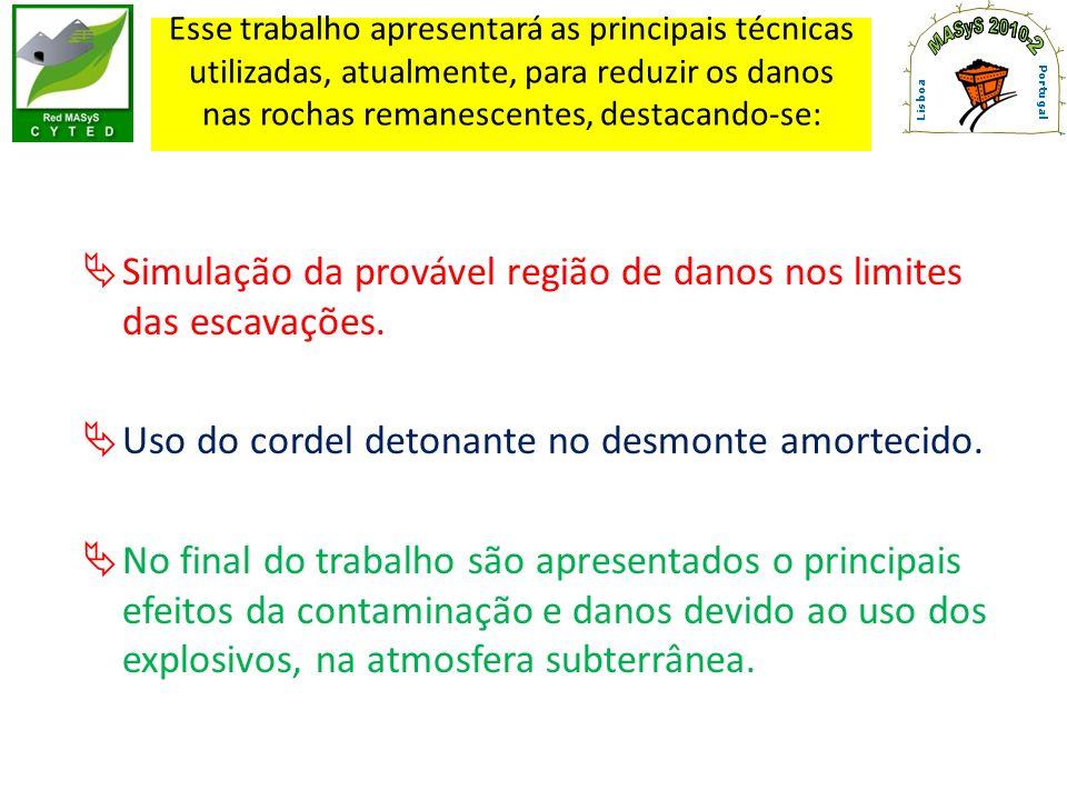 Cordel detonante de grande gramatura utilizado no desmonte amortecido (NP-40)