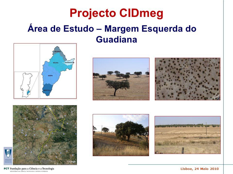 Lisboa, 24 Maio 2010 C E R E N A Área de Estudo – Margem Esquerda do Guadiana Projecto CIDmeg