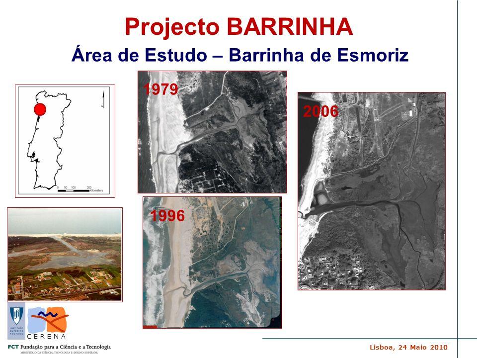 Lisboa, 24 Maio 2010 C E R E N A Área de Estudo – Barrinha de Esmoriz 1979 2006 1996 Projecto BARRINHA