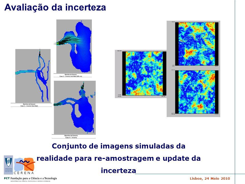 Lisboa, 24 Maio 2010 C E R E N A Avaliação da incerteza Conjunto de imagens simuladas da realidade para re-amostragem e update da incerteza