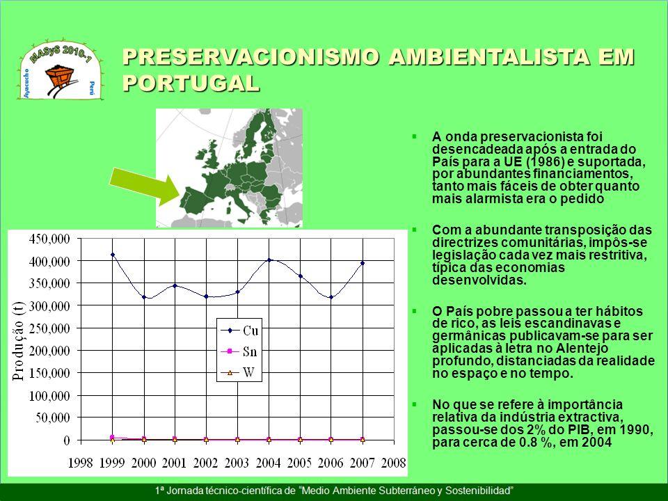 A onda preservacionista foi desencadeada após a entrada do País para a UE (1986) e suportada, por abundantes financiamentos, tanto mais fáceis de obte