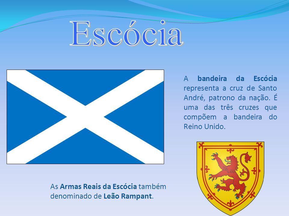 A bandeira da Escócia representa a cruz de Santo André, patrono da nação. É uma das três cruzes que compõem a bandeira do Reino Unido. As Armas Reais