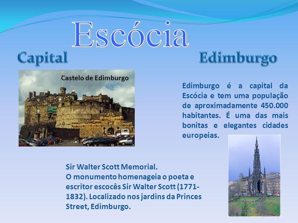 Edimburgo é a capital da Escócia e tem uma população de aproximadamente 450.000 habitantes. É uma das mais bonitas e elegantes cidades europeias. Cast