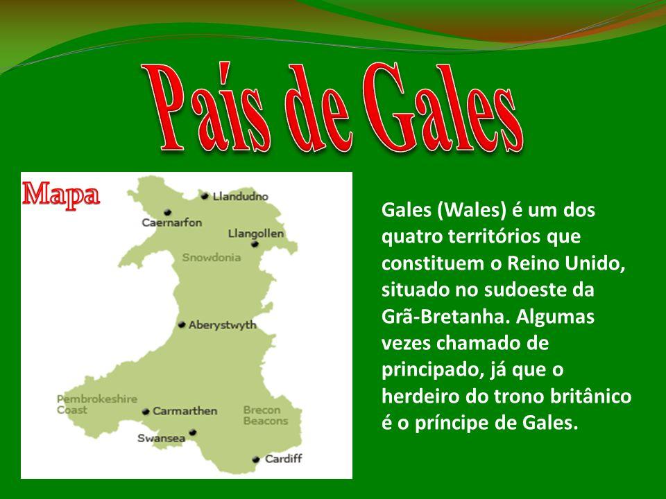 Gales (Wales) é um dos quatro territórios que constituem o Reino Unido, situado no sudoeste da Grã-Bretanha. Algumas vezes chamado de principado, já q