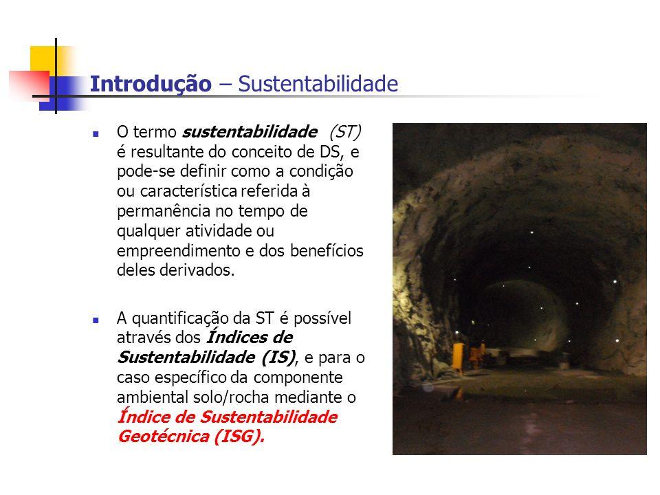 Introdução – Sustentabilidade O termo sustentabilidade (ST) é resultante do conceito de DS, e pode-se definir como a condição ou característica referi
