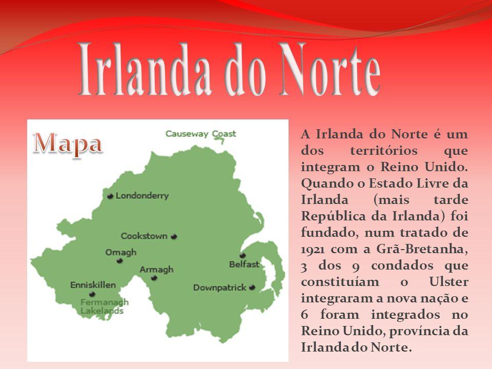 A Irlanda do Norte é um dos territórios que integram o Reino Unido. Quando o Estado Livre da Irlanda (mais tarde República da Irlanda) foi fundado, nu