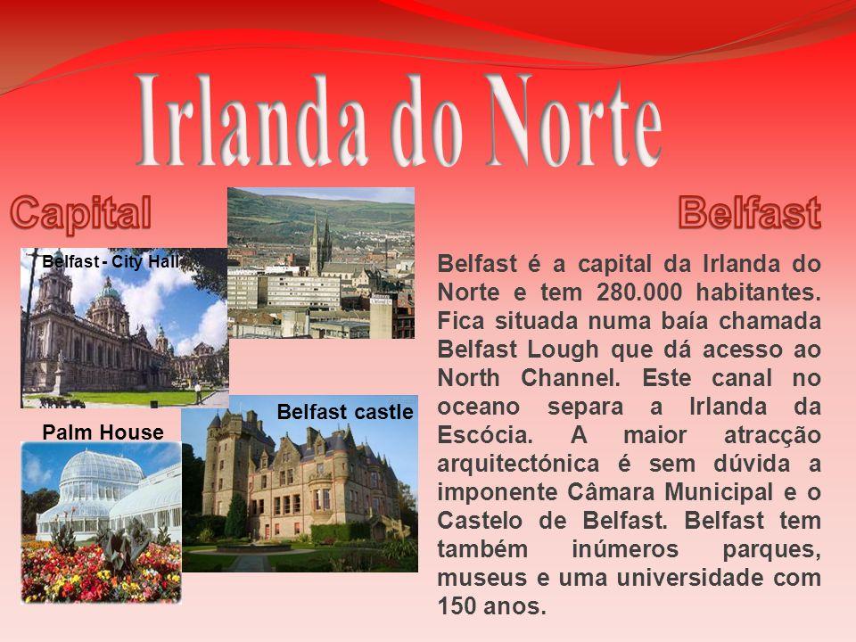 Belfast é a capital da Irlanda do Norte e tem 280.000 habitantes. Fica situada numa baía chamada Belfast Lough que dá acesso ao North Channel. Este ca