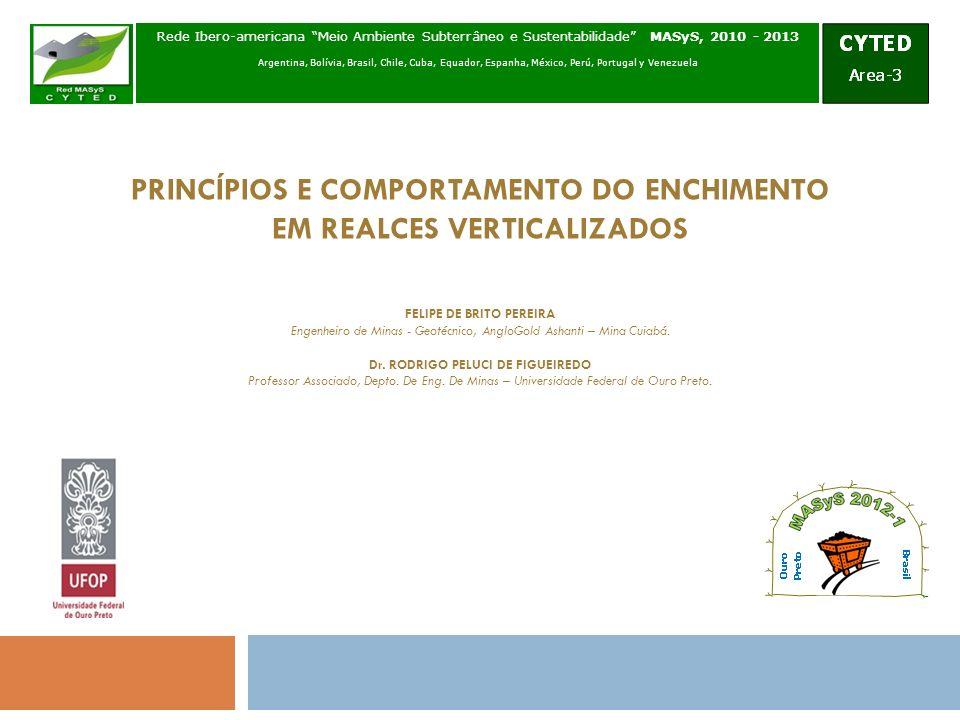 PRINCÍPIOS E COMPORTAMENTO DO ENCHIMENTO EM REALCES VERTICALIZADOS Rede Ibero-americana Meio Ambiente Subterrâneo e Sustentabilidade MASyS, 2010 - 201