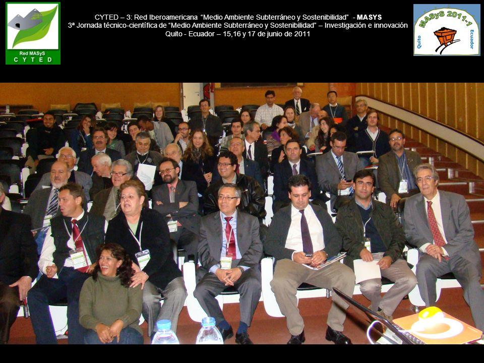 CYTED – 3: Red Iberoamericana Medio Ambiente Subterráneo y Sostenibilidad - MASYS 3ª Jornada técnico-científica de Medio Ambiente Subterráneo y Sosten