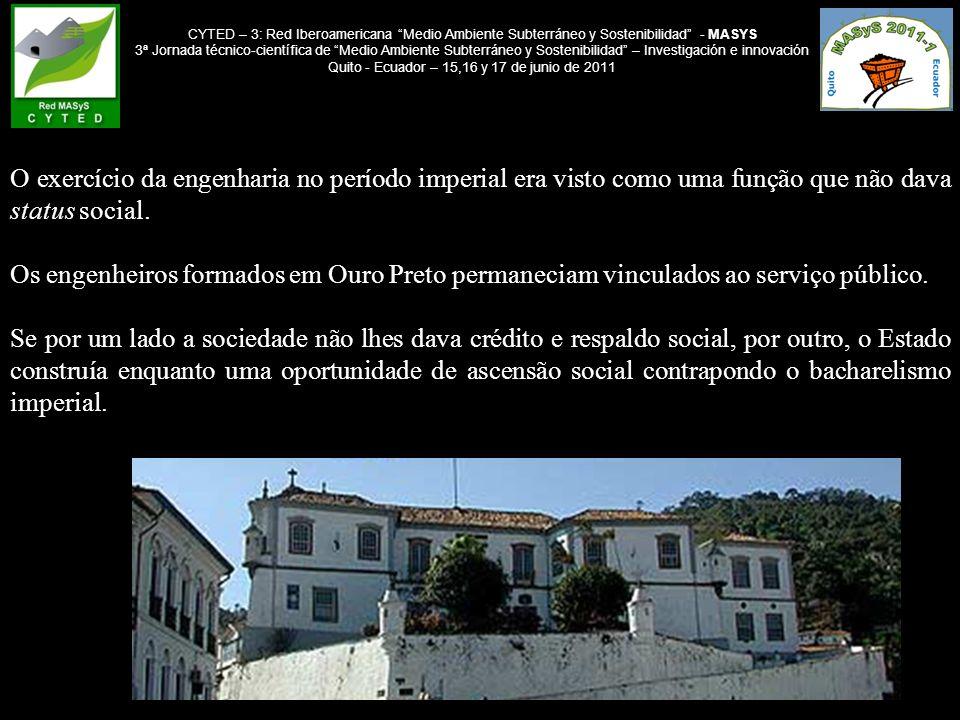 CYTED – 3: Red Iberoamericana Medio Ambiente Subterráneo y Sostenibilidad - MASYS 3ª Jornada técnico-científica de Medio Ambiente Subterráneo y Sostenibilidad – Investigación e innovación Quito - Ecuador – 15,16 y 17 de junio de 2011 3 - Reabilitação das Antigas Minas de Ouro da Cidade de Ouro Preto.