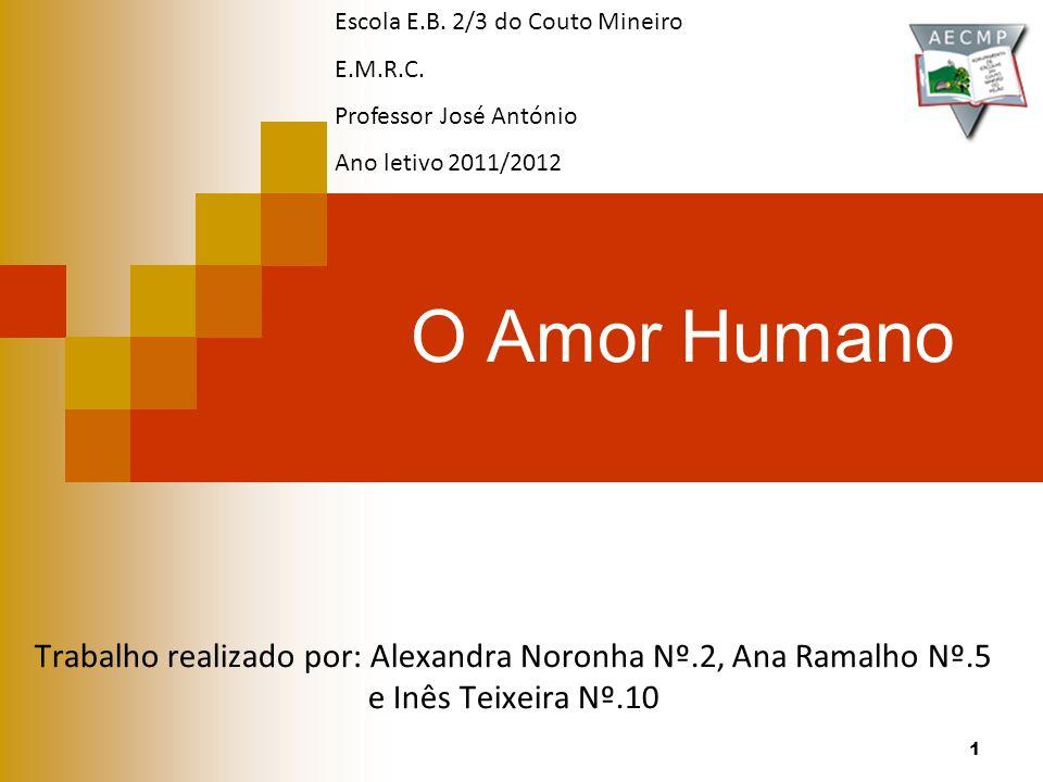 O Amor Humano Trabalho realizado por: Alexandra Noronha Nº.2, Ana Ramalho Nº.5 e Inês Teixeira Nº.10 Escola E.B.