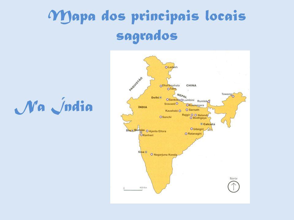 Mapa dos principais locais sagrados Na Índia