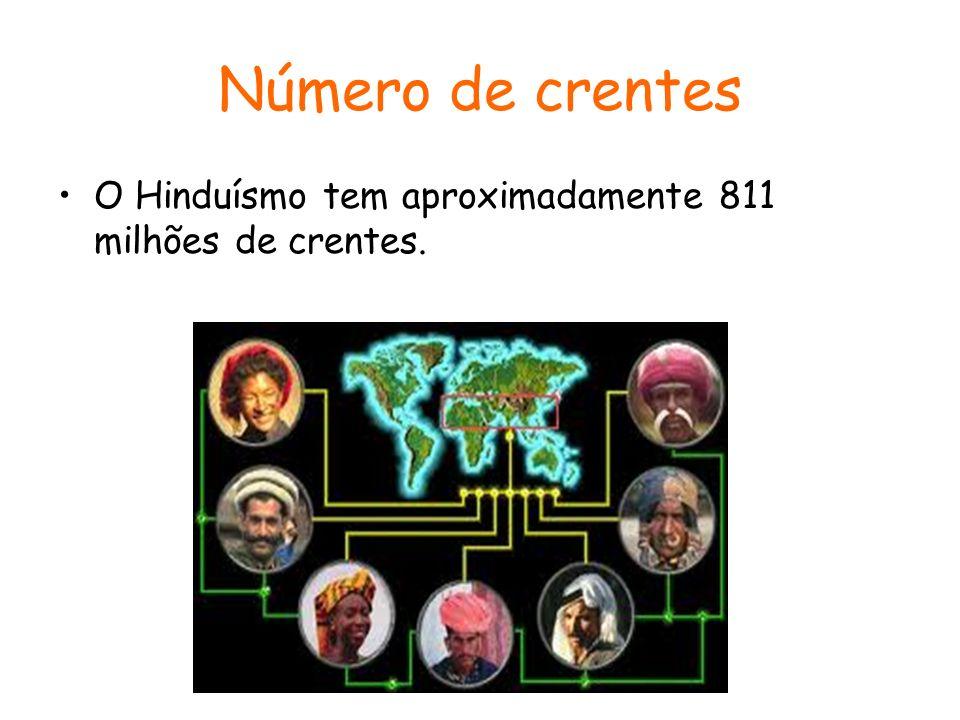 Número de crentes O Hinduísmo tem aproximadamente 811 milhões de crentes.