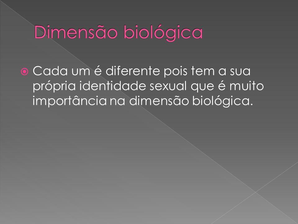 Cada um é diferente pois tem a sua própria identidade sexual que é muito importância na dimensão biológica.