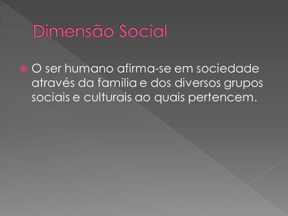 O ser humano afirma-se em sociedade através da familia e dos diversos grupos sociais e culturais ao quais pertencem.