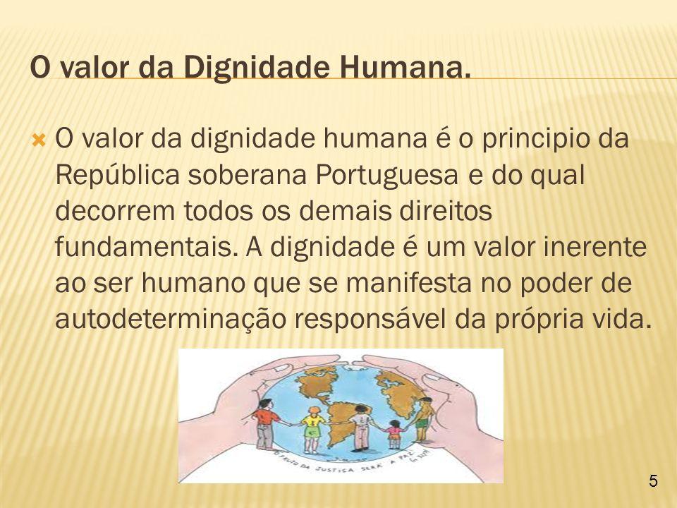 Devemos ter respeito pela Dignidade Humana.