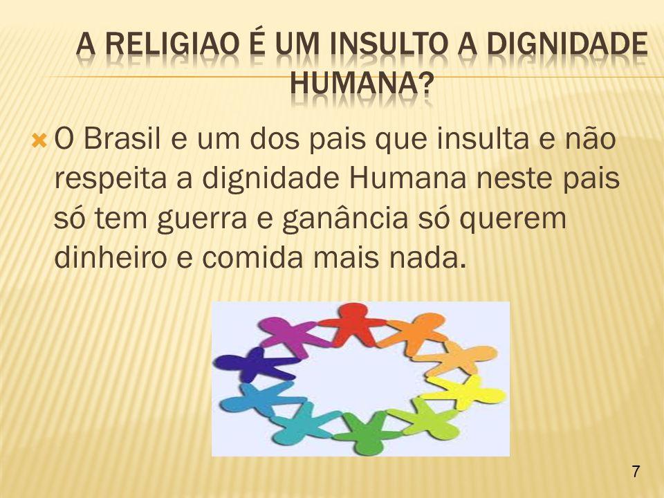 Aprendemos neste trabalho que a Dignidade Humana é muito importante pois para todos nos darmos bem.