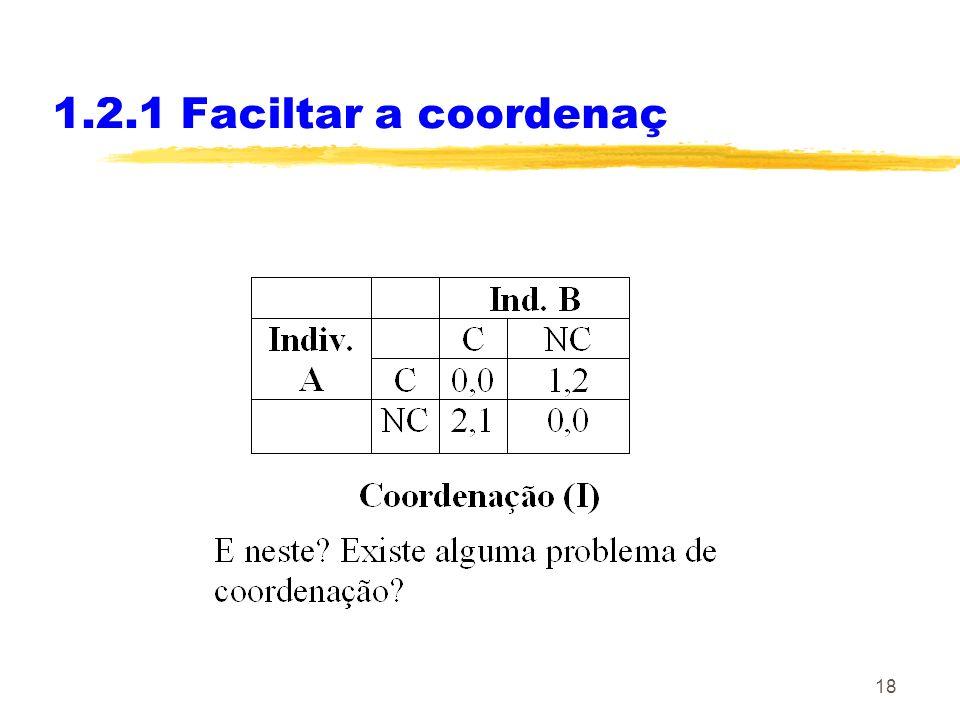 18 1.2.1 Faciltar a coordenaç