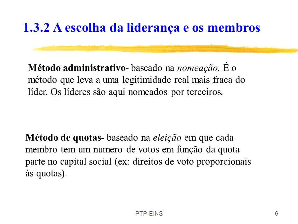 PTP-EINS6 Método administrativo- baseado na nomeação.