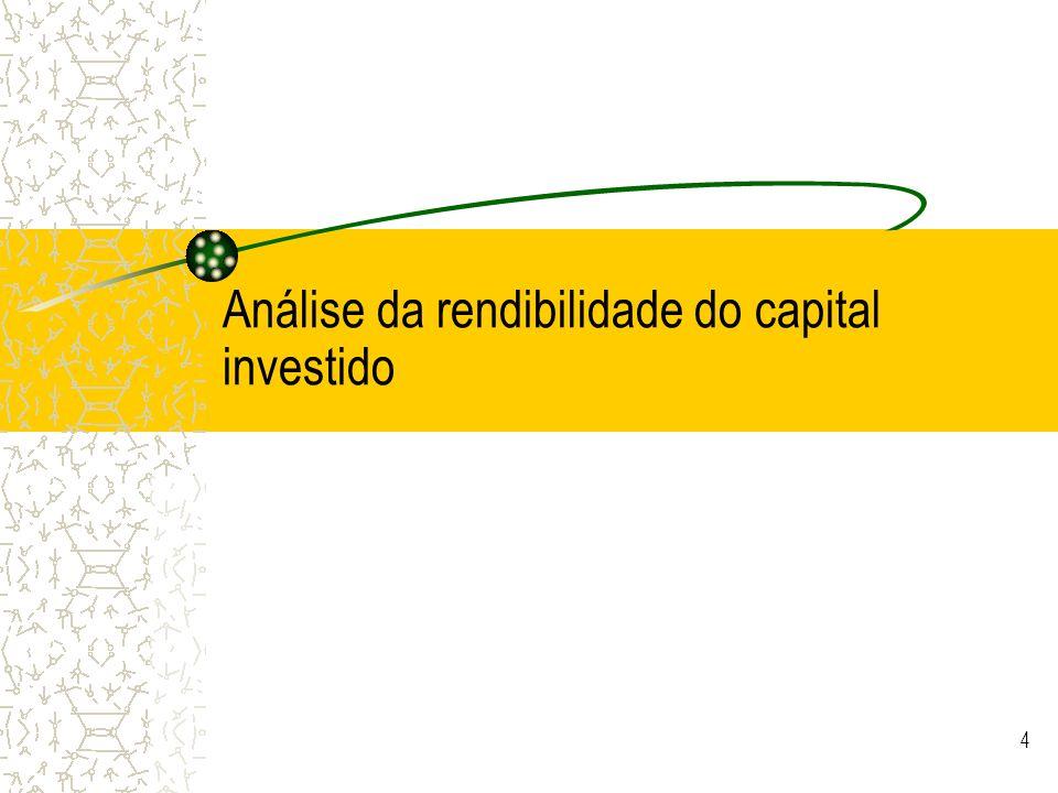 © JCNeves 5 Medidas tradicionais de analise da performance Rendibilidade do activo –(Return On Assets ou Return On Investment) = RO/A Rendibilidade do Capital Investido –(Return on Invested Capital) = RO/CI –= (RL+CF-CF*t)/CI Rendibilidade do capital próprio –(Return on equity)=RL/CP