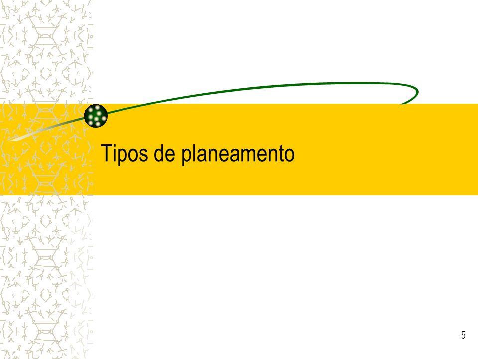 5 Tipos de planeamento