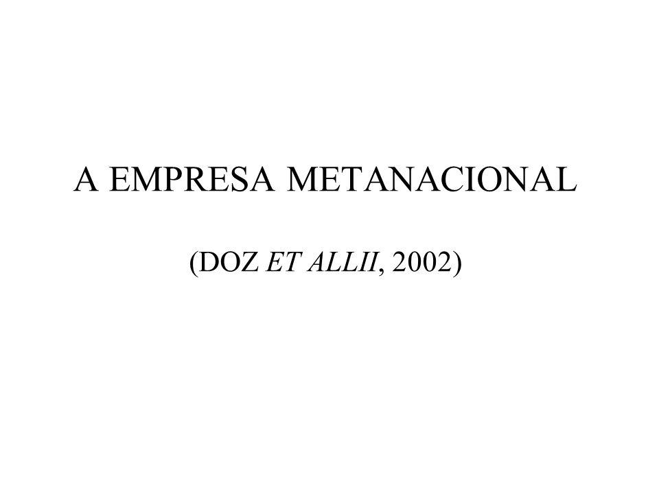 A EMPRESA METANACIONAL (DOZ ET ALLII, 2002)