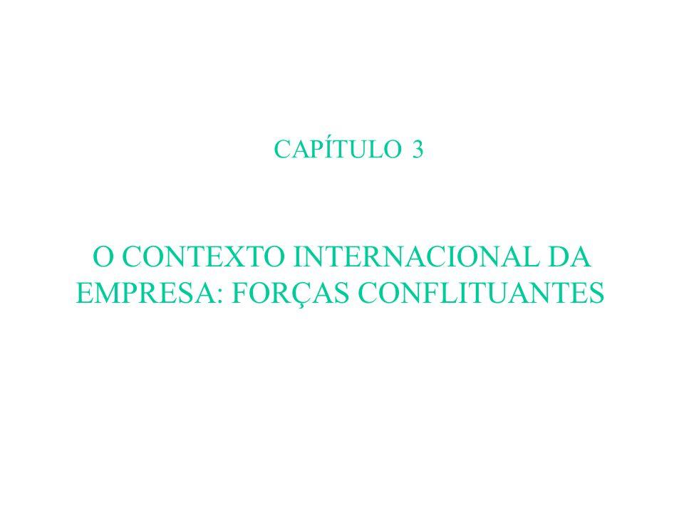CAPÍTULO 3 O CONTEXTO INTERNACIONAL DA EMPRESA: FORÇAS CONFLITUANTES