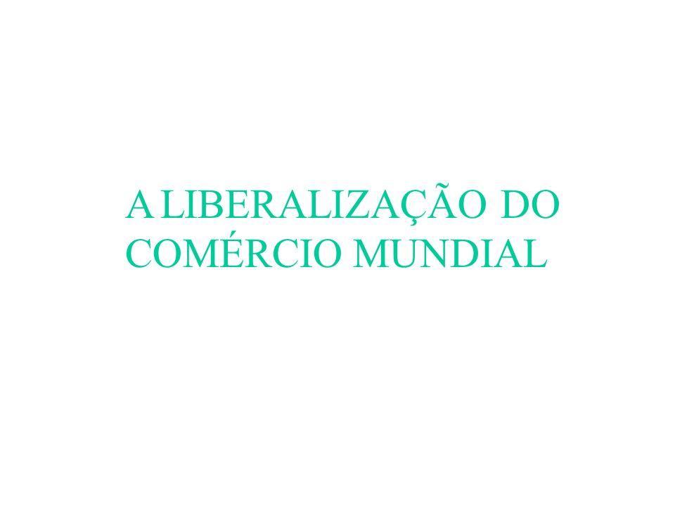 A LIBERALIZAÇÃO DO COMÉRCIO MUNDIAL