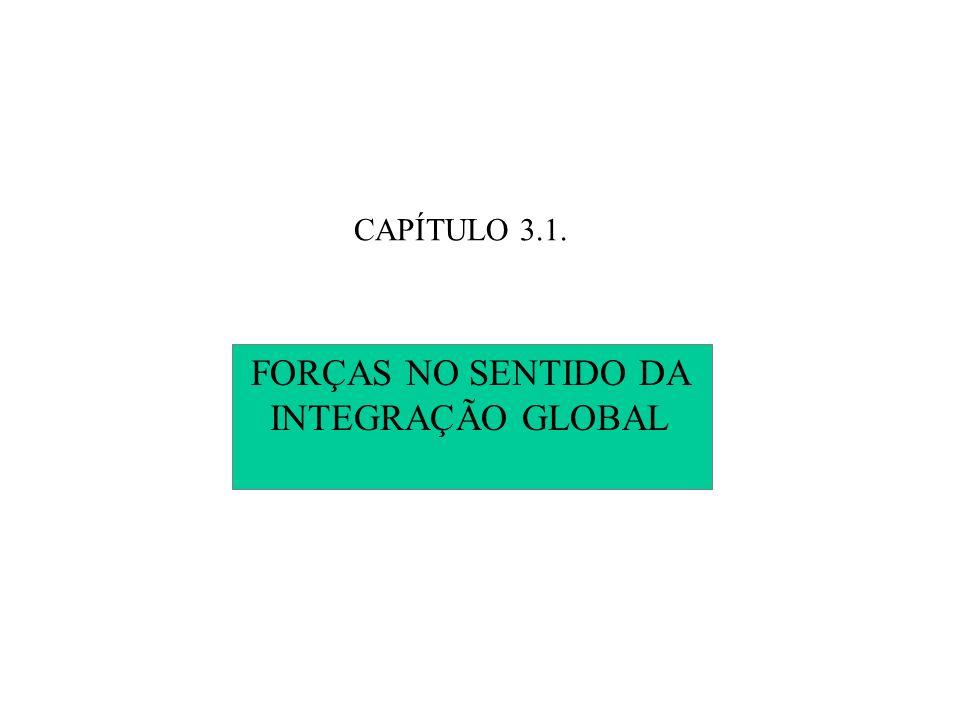 CAPÍTULO 3.1. FORÇAS NO SENTIDO DA INTEGRAÇÃO GLOBAL