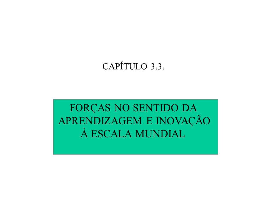 CAPÍTULO 3.3. FORÇAS NO SENTIDO DA APRENDIZAGEM E INOVAÇÃO À ESCALA MUNDIAL