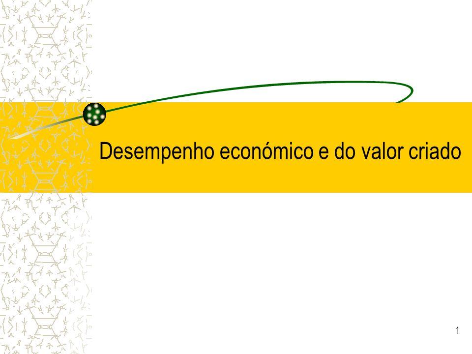 1 Desempenho económico e do valor criado