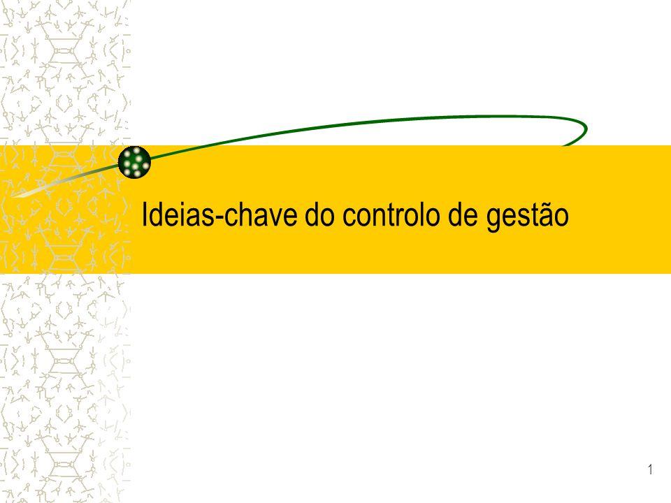 1 Ideias-chave do controlo de gestão
