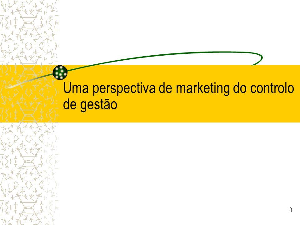 © JCNeves 9 Óptica de marketing do controlo de gestão